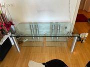 Hochwertiger Designer TV Glastisch