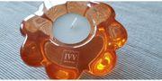 handgefertigtes Teelicht orange