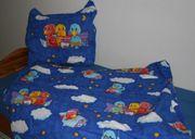 NEU - Blau-bunte Kinder-Bett-Wäsche - Set - Vogel-Motiv -