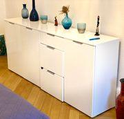 Schlafzimmer Sideboard weiß lackiert
