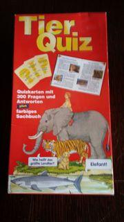 Lernspiel Tier Quiz Karten mit