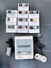 Super Nintendo Konsole SNES Komplett