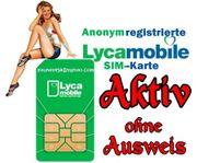 Lycamobile AKTIV Deutsche SIM-Karte REGISTRIERT AKTIVIERT
