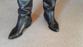 Schuhe, Stiefel - Damenlederstiefel ECCO Gr 40 gebraucht