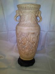 Chinesische Speckstein Vase