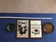 2 alte Barspiegel und 2