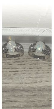 2 3Ct White Opal Ring