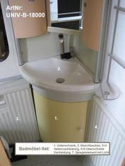 Waschraum-Elemente 7tlg Set Waschbecken Ober-