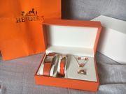 Hermes Luxus Komplettset Ohrringe Ring