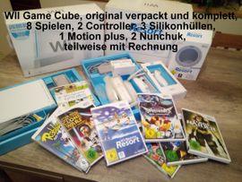 WII Game Cube inkl aller Zubehörteile, Original Verpackung, 8 Spiele