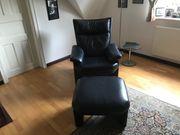Sessel mit Fußhocker von Rolf