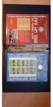 Numisblätter und Briefmarken Fußball