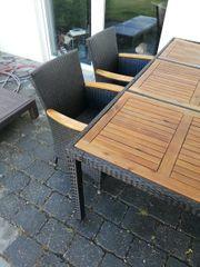 1x Gartentisch 4x Gartenstühle