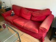 Rotes Sofa 3 Sitzer