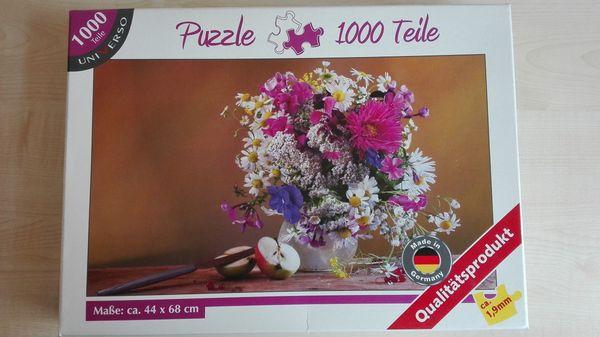 Puzzle 1000 Teile Stilleben Blumen Neu