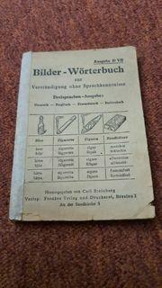 Wir geben ein Bilderwörterbuch von