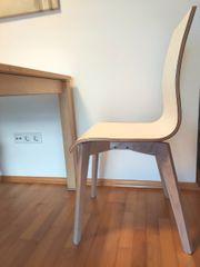 2 Stühle Stuhl Holz Weiß