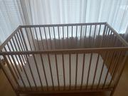 Gitterbett Holz Ikea inkl Matratze