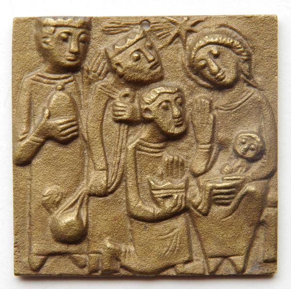 Messingplatte Motiv Drei Könige an