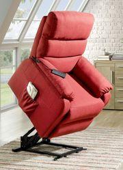 Relaxsessel Aufstehhilfe rot Sessel Fernsehsessel