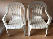 4x Garten- Balkonstühle in weiß