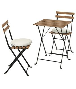 Gartenmöbel - Gartentisch Set 3Teilig Gartenmöbel Balkontisch