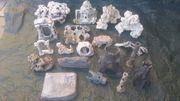 Verschiedene Aquarium Deko Kunst steine