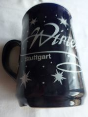 Weihnachts- Glühweintasse Stuttgart dunkelblau Keramik