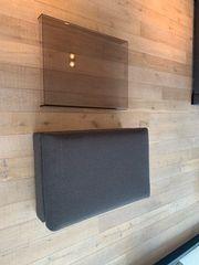 Couch-Hocker mit Plexiglas