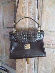 Handtasche Kelly Tasche Leder braun