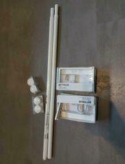 Gardinenstangen Vorhangstangen Aufhängung - 2 Sets
