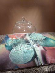 Bowlen- Kristallset mit Gläser