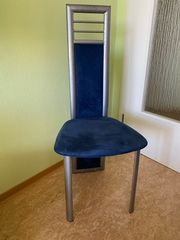 Gebrauchte Wohnzimmerstühle in grau blau