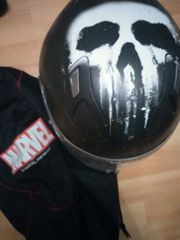 punisher Motorrad Helm in S