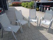 4 Terrassenstühle