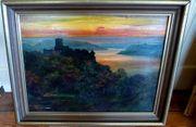 2 alte Gemälde Ölgemälde um