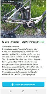 E- bike Pedlec Elektrofahrrad