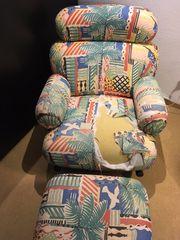 Sessel mit Fußhocker Knuff von