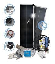 160W PERC Schindel-Solaranlage bei wenig