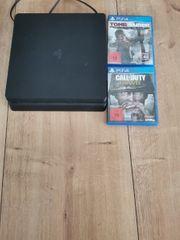 Playstation 4 mit zwei Spielen