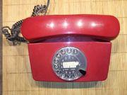 Weinrotes Wählscheiben-Telefon FeTAp 791-1