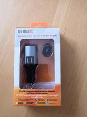 Technaxx Bluetooth In-Ear-Freisprecheinrichtung mit Autoladegerät