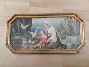 Heiligenbild Maria mit Jesus beim