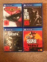 verschiedene PS4 VR Spiele zu