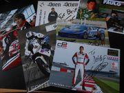 Signierte Autogrammkarten Motorsport - Konvolut