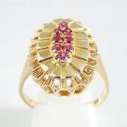 Ring Gold 750er Rubine Goldschmuck