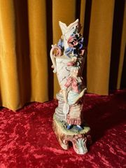 Jugendstil Vase Figurenvase Dame Floral