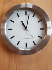 Wanduhr Küchenuhr Uhr Edelstahl rund