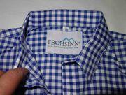 NEU blauweiß kariertes Trachtenhemd Größe