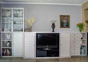 Schrankwand Wohnwand Highboard TV-Möbel weiß